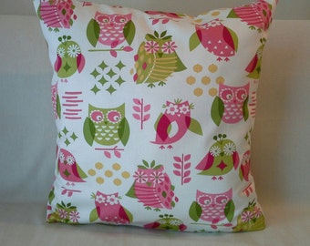 Owls Out and About Pillow Cover-18x18 inches