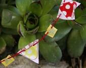 Mini bunting for fairy gardens or dollhouses