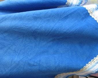 B-031 Blue Fleece Blanket