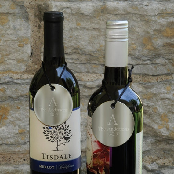 Personalized Wine Bottle TagsWeddingGift