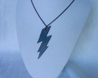 Harry Potter Lightning Bolt Vinyl Record Necklace