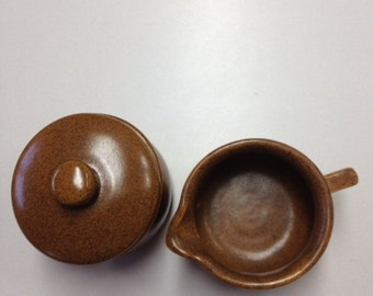 Vintage/Collectable MONMOUTH Pottery Cream & Sugar
