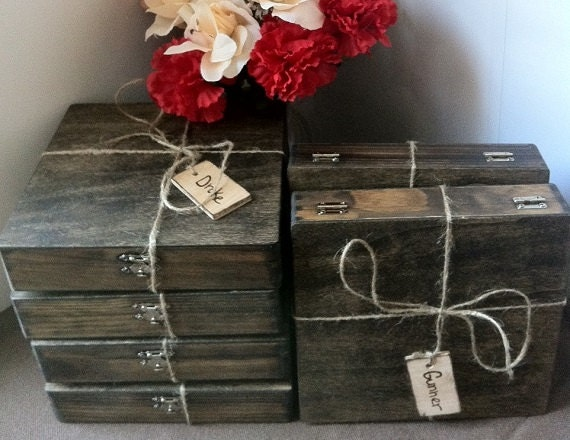 Wedding Gift Collection Boxes: Groomsmen Gift Rustic Set Of 6 Cigar Boxes Wedding Favor