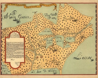 Map of New France, Louis Joliet 1674