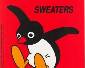 Pingu Intarsia Knitting Pattern