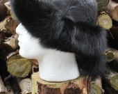 Ladies Real Leather Hat with Real Fox trimming