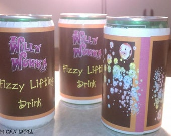 Willy Wonka Fizzy Lifting Drink - 3 drink labels.....so fun for parties