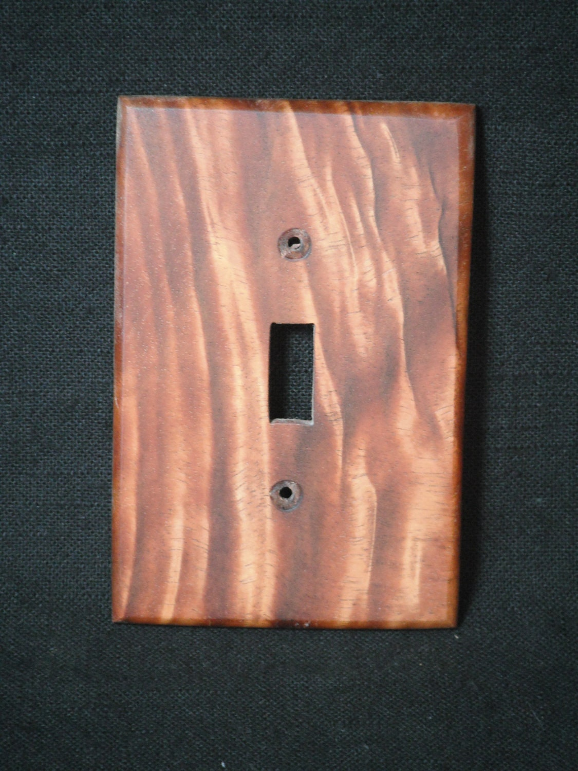 Handmade Hawaiian Koa Wood Light Switch Cover Plate