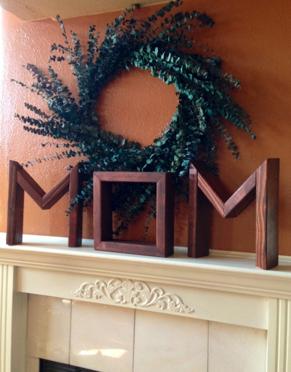 Items Similar To Gift For Mom Wooden Letters Home Decor