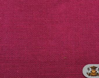 "Burlap Jute MAGENTA Fabric / 58"" / Sold by the yard"