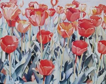 Tulips Art Print Floral Art Print Tulips Art Tulips Print