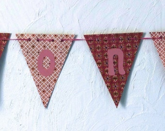banner girl for personalised birth gift: the application name (garland, pennant banner, flag, banner)