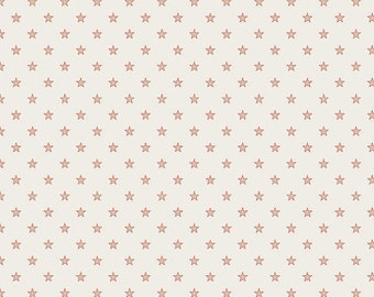 SALE!! - Half Yard Riley Blake Cream Stars & Stripes Quilt Fabric - by Deena Rutter for My Mind's Eye (W39)