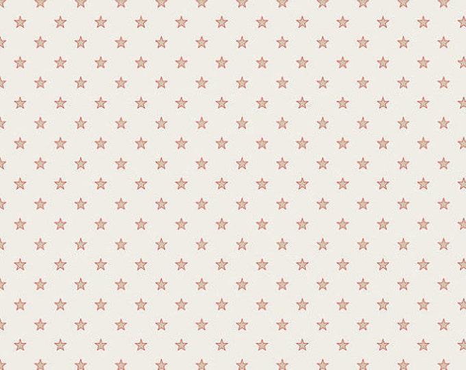 SALE!! - Half Yard Riley Blake Cream Stars & Stripes Quilt Fabric - by Deena Rutter for My Mind's Eye (W39)