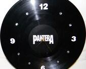 PANTERA Inspired Vinyl Record Wall Clock