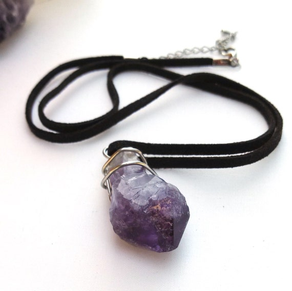 amethyst stone necklace - photo #6