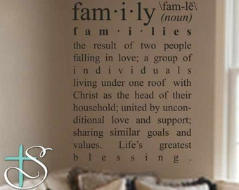 Family Definition  Wall Decal (DEF001)