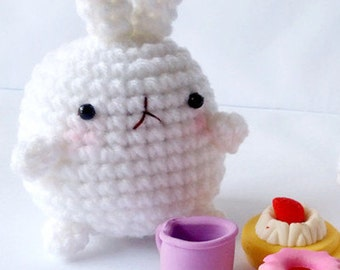 Molang Keychain white bunny No.1
