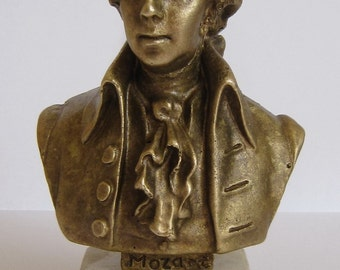 Bronze Bust  Mozart  Figure Sculpture
