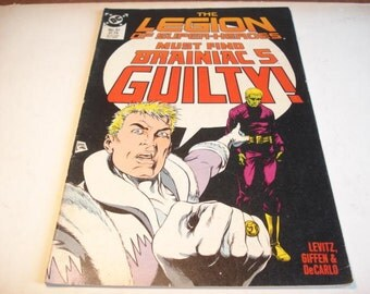 The Legion Of Doom Must Find Brianiac 5 Guilty, Vintage Comic book, DC Comics, Vintage, Super Heroes
