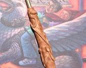 Hermione's wand crochet hook grip