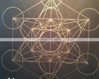 Metatron's Cube  8 x 11 Matte print