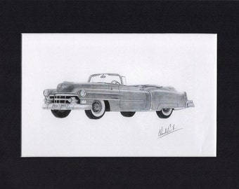 car art of a 1953 Cadillac Convertible