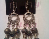 Triple dangle with old world beads and tibtian spacers
