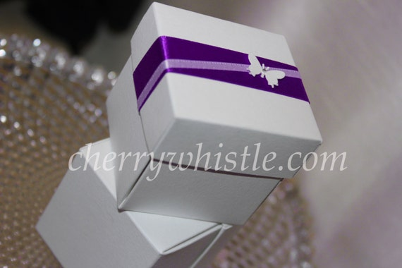Butterfly Themed Favor Boxes : Items similar to purple butterfly wedding favor boxes