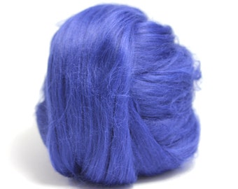 Blue Dyed Bamboo Top / Roving - Spinning Fibre / Fiber - Felting