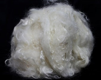 Scoured/Washed Kid Mohair Fleece - Spinning Fibre / Fiber - Felting
