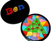 Personalized Mosaic Christmas Tree Wooden Boxed Puzzle