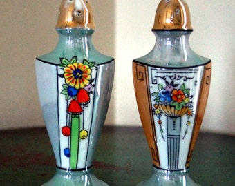 Vintage Hand Painted Japanese Salt and Pepper Shakers