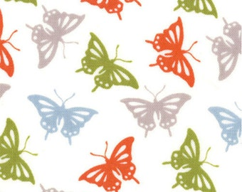 Butterfly Fabric - Serenade Butterflies by Kate Spain for Moda Fabrics 27114 15 Autumn - 1/2 yard