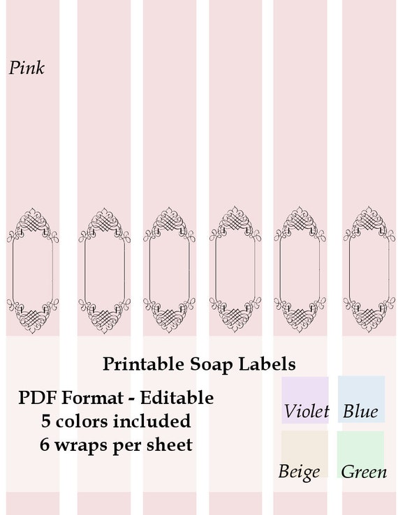 Printable Soap Labels Wraps Instant Download By Ashliprintables