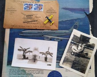 Airplane scrapbook kit