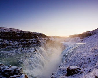 Gullfoss Waterfall in Iceland. Fine Art Photography