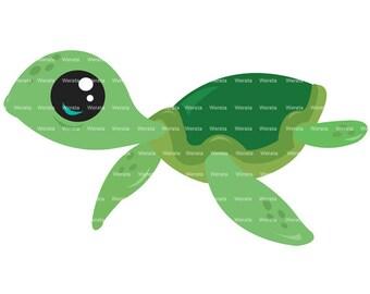baby sea turtles clip art digital clipart - Sea Turtles Digital Clip Art - sea clip art - Personal and Commercial Use
