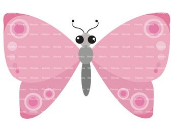 pink butterflies clip art digital clipart - butterfly clip art - butterfly graphics - butterfly digital - Personal and Commercial Use
