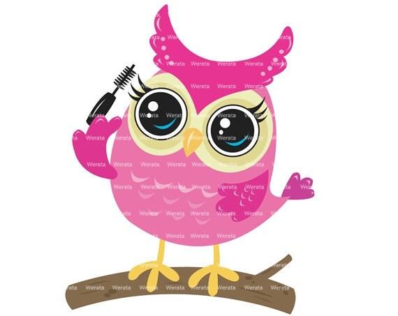 items similar to pink owl clip art owl on branch clipart digital rh etsy com pink owl clip art free pink owl clip art free