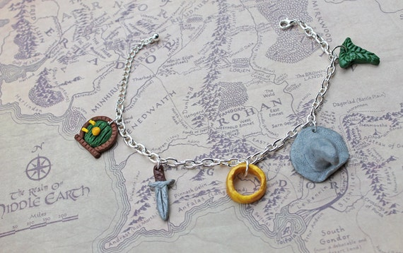 items similar to lord of the rings clay charm bracelet on etsy