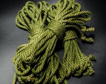 Jute Rope Kit for Shibari / Kinbaku - Avacado Green