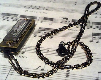 Musician at Heart -- Harmonica Necklace