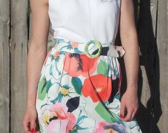 Vintage Retro Maxi  Floral Dress