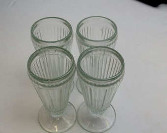 Indiana Glass 10oz Old Fashioned Soda Glass Dessert dish - Set of 4 pcs
