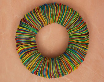 Multicolor Eco-Friendly Felt Wreath // Colorful // 15""