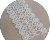 White cotton cloth curtain cloth art furniture diy lace circle(522)