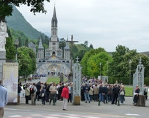 Lourdes Water Collected Fresh From the Grotto at Lourdes 500ml In Purpose Made Plastic Lourdes Container
