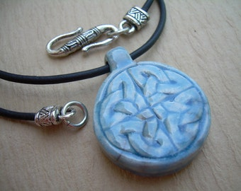 Leather Necklace, Celtic Knot Pendant , Mens Necklace, Womens Necklace, Womens Jewelry, Mens Jewelry, Celtic