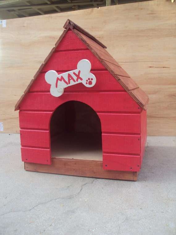 items similar to beautiful hand crafted hand painted dog With painted dog house